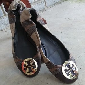 Tory Burch Shoes - Tory Burch Serena Wool Plaid Ballet Flats